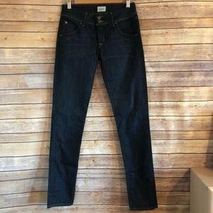 Hudson Button Flap Skinny Jeans 27